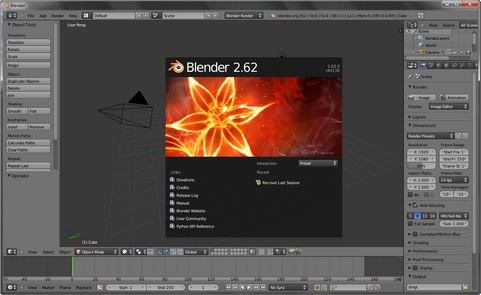 Blender 2.62 screenshot