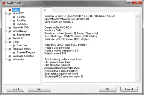 AnyDVD screenshot (481 pix)