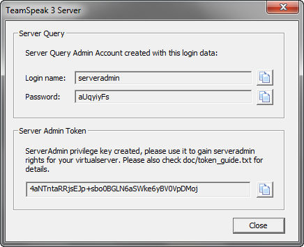 TeamSpeak Server screenshot