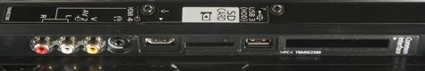 Panasonic Viera G30 aansluitingen