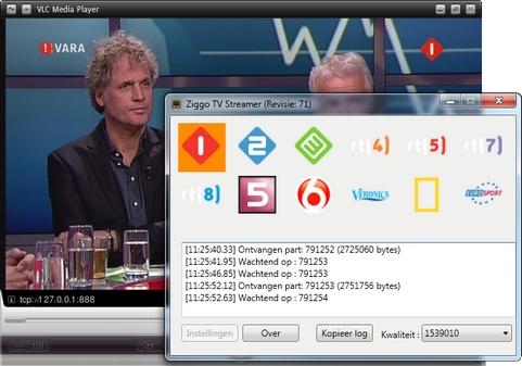 Ziggo TV Streamer screenshot (481 pix)