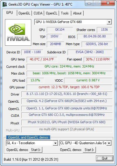 GPU Caps Viewer 1.16.0 screenshot