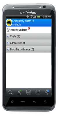 BlackBerry Messenger op Android-toestel Verizon