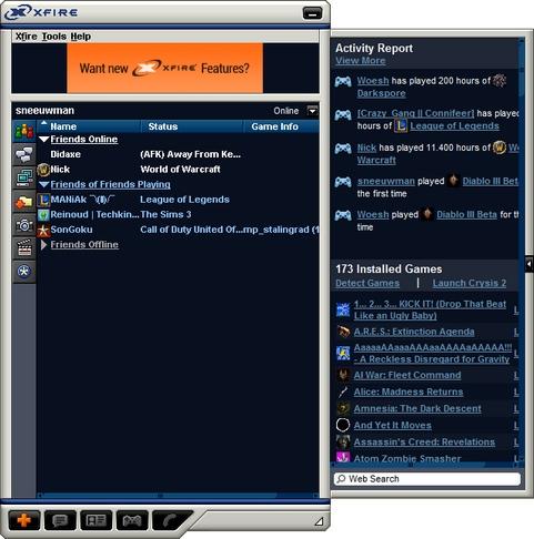 Xfire screenshot (481 pix)