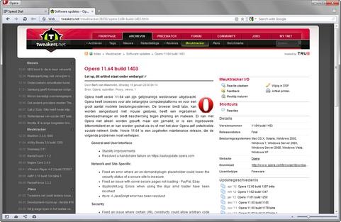 Opera 11.64 build 1403 screenshot (481 pix)