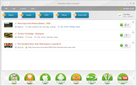 Freemake Video Converter 3.0.2 screenshot