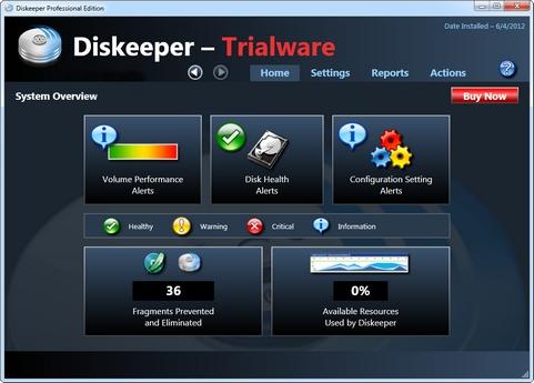 Diskeeper 12 screenshot (481 pix)