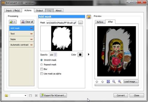 XnConvert MP screenshot (481 pix)