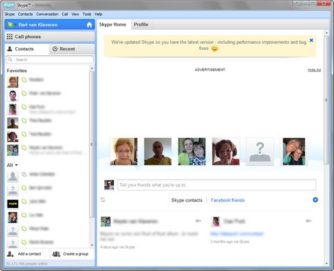 Skype for Windows 5.10 screenshot (481 pix)