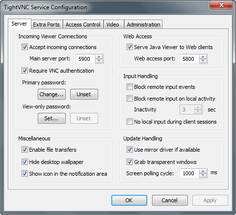 TightVNC 2.5 screenshot