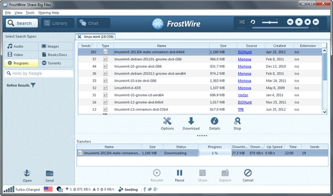 FrostWire 5.3.8 screenshot