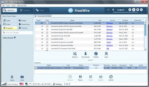 FrostWire 5.3.8 screenshot