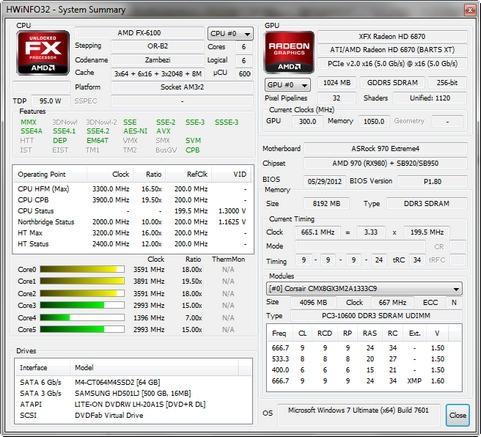HWiNFO32 4.02 build 1700 screenshot