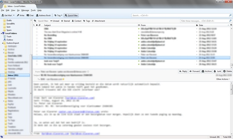Mozilla Thunderbird 15.0 screenshot (481 pix)