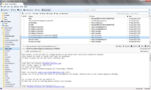 Mozilla Thunderbird 15.0 screenshot (481 pix)