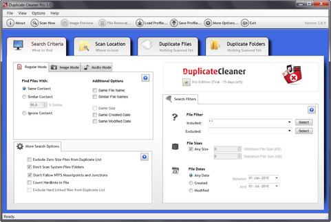 Duplicate Cleaner Pro 3.0 screenshot