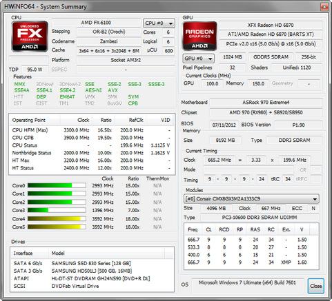 HWiNFO32/64 4.06 build 1760 screenshot