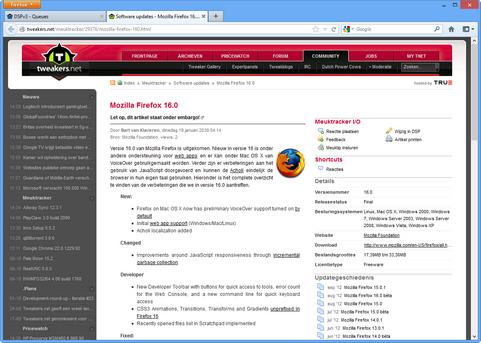 Mozilla Firefox 16.0 onder Windows 8 screenshot (481 pix)