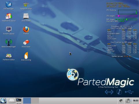 Parted Magic 12.10.10 screenshot