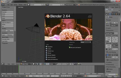 Blender 2.64 screenshot