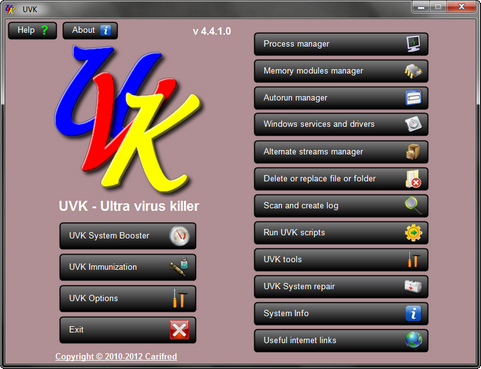 UVK 4.4.1.0 screenshot (481 pix)