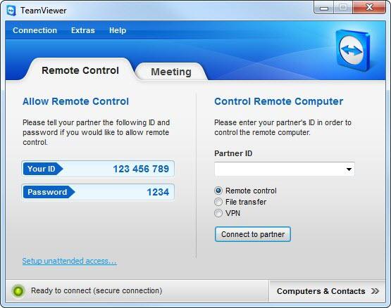 TeamViewer 6.0 screenshot