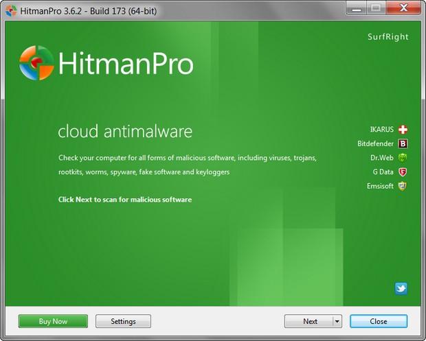 HitmanPro 3.6.2 build 173 screenshot (620 pix)
