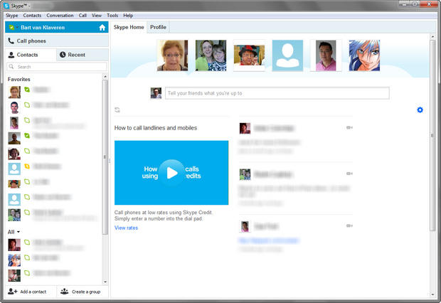 Skype for Windows 6.0 build 120 screenshot (620 pix)