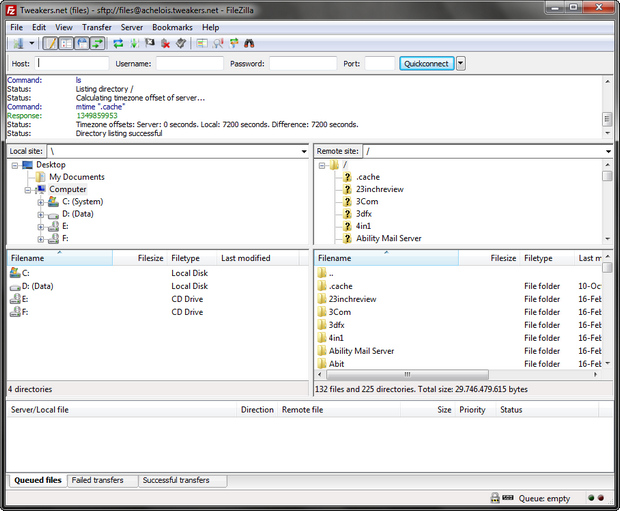 FileZilla screenshot (620 pix)