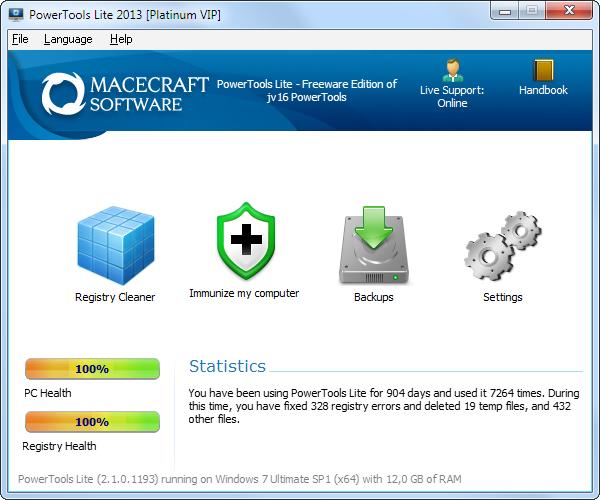 PowerTools Lite 2013 screenshot (481 pix)