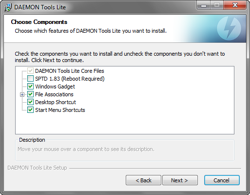Daemon Tools Lite 4.46.1 installatie