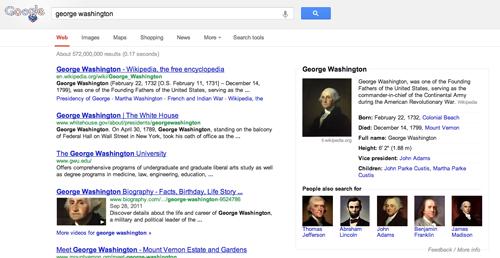 Nieuwe layout Google-zoekpagina