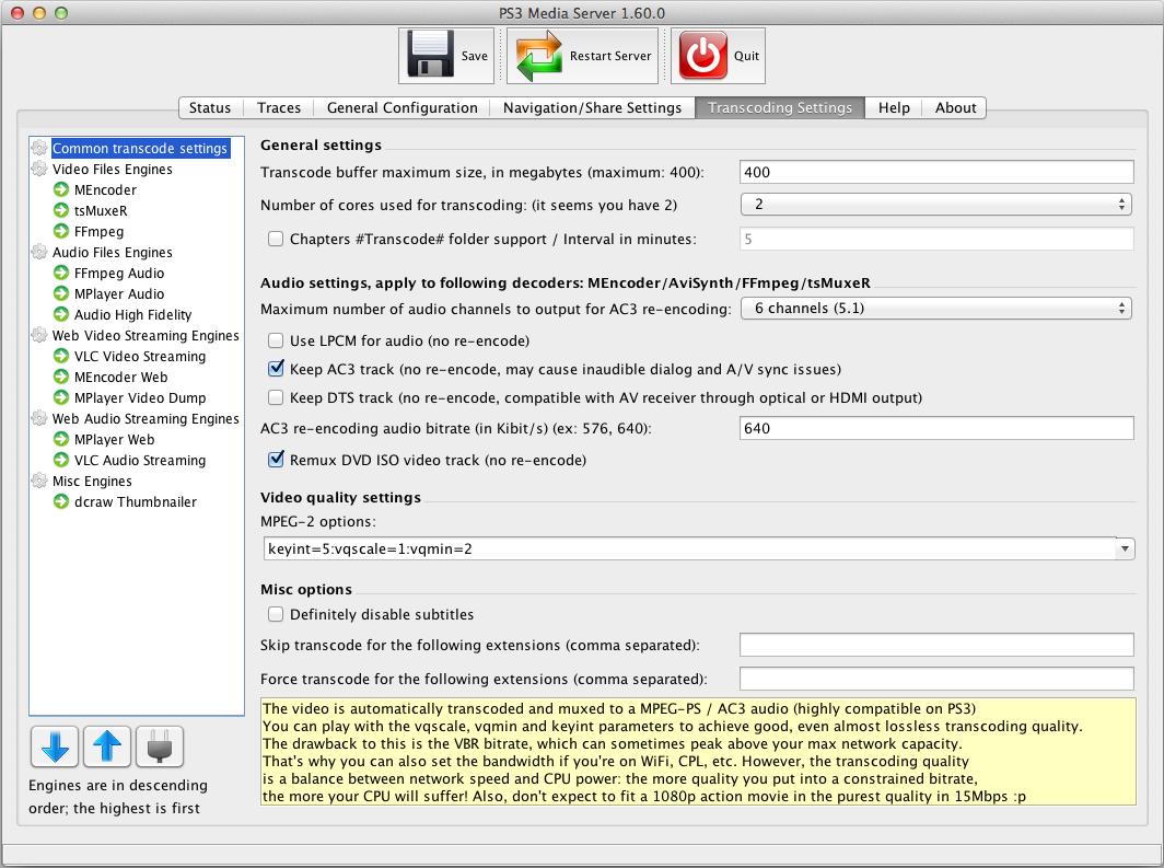 playstation 3 mac media server