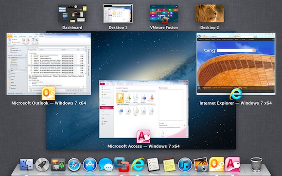 VMware Fusion 5.01 screenshot