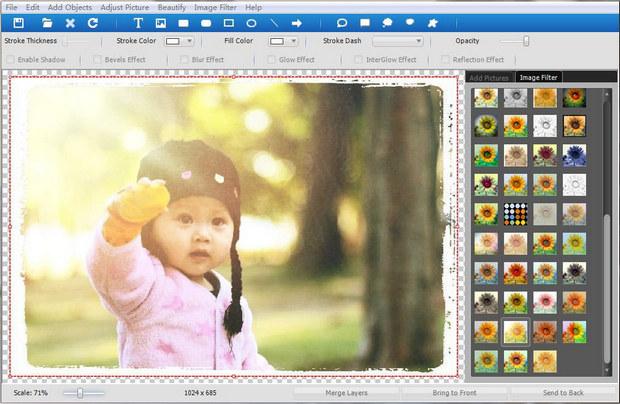 ToolWiz Pretty Photo screenshot (620 pix)