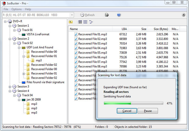 IsoBuster screenshot (620 pix)