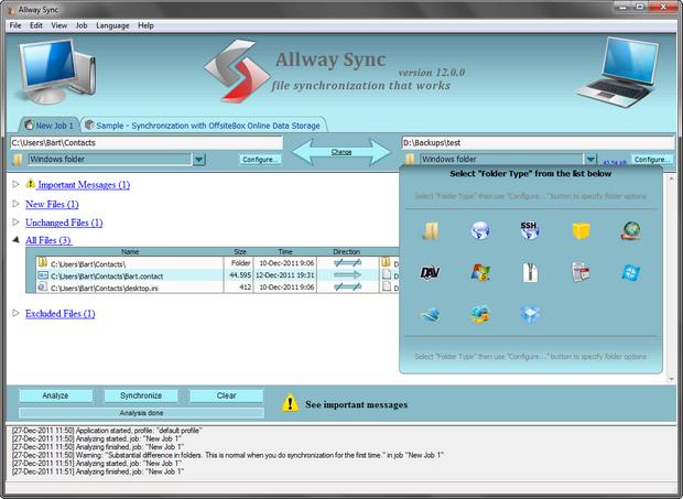Allway Sync screenshot (620 pix)