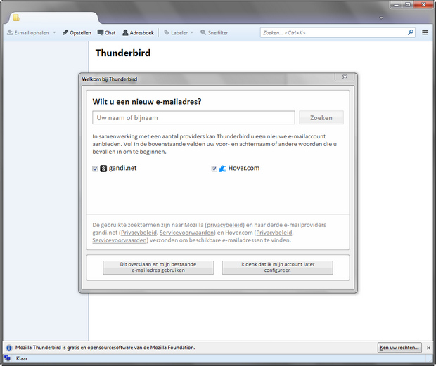 Mozilla Thunderbird screenshot (620 pix)