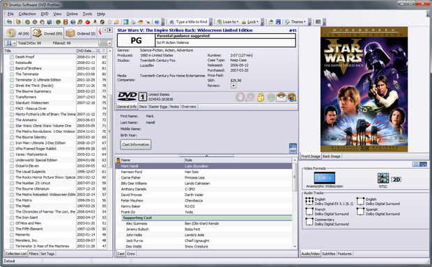 DVD Profiler 3.8.2 screenshot (620 pix)
