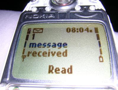 Sms op een oude Nokia