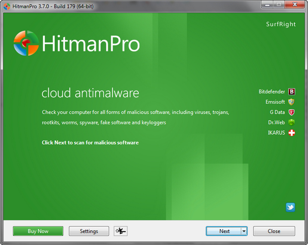 HitmanPro 3.7.0 build 179 screenshot (620 pix)