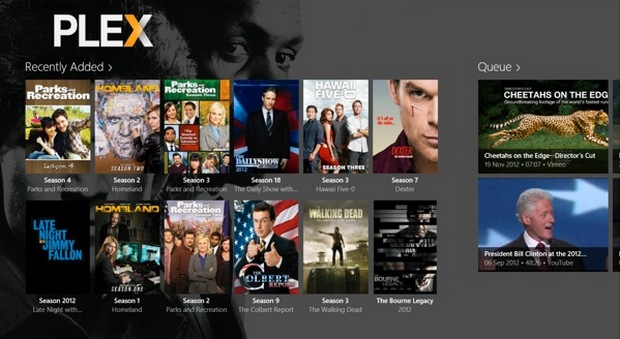 Plex Media Server screenshot (620 pix)