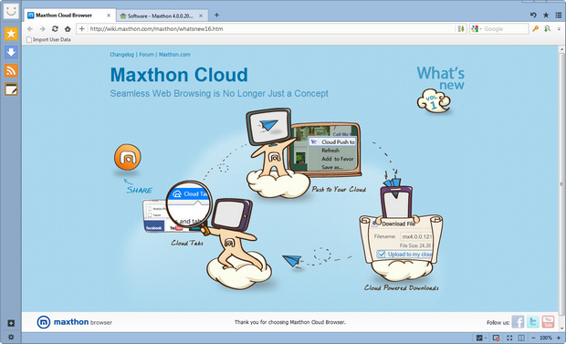 Maxthon screenshot (620 pix)