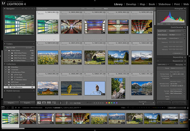 Adobe Photoshop Lightroom screenshot (620 pix)