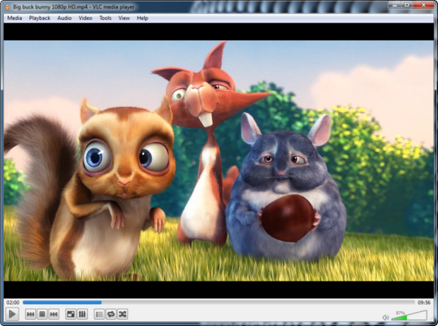 VLC Media Player screenshot (620 pix)