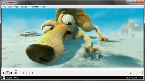 Media Player Classic - Home Cinema screenshot (620 pix)