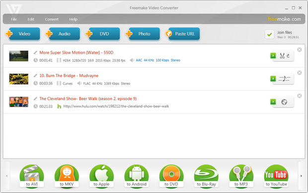 Freemake Video Converter screenshot (620 pix)