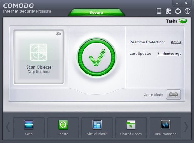 Comodo Internet Security 2013 screenshot (620 pix)