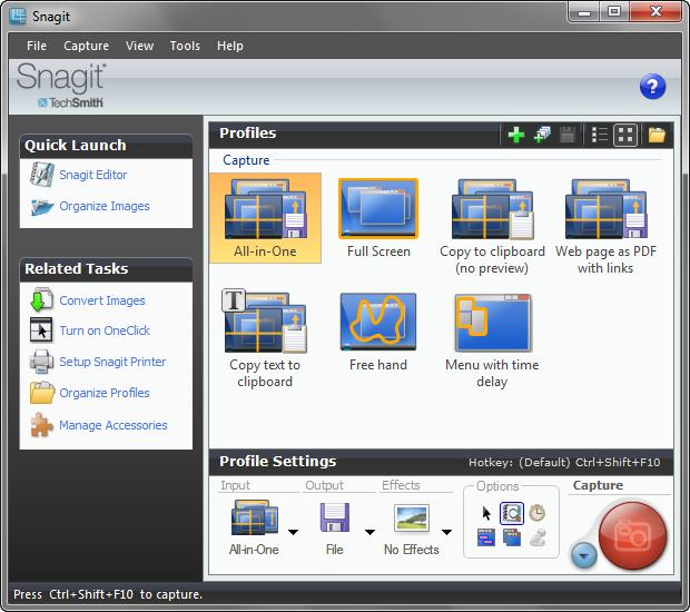 Snagit 10 screenshot (620 pix)