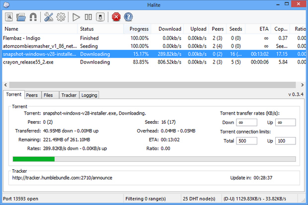 Halite screenshot (620 pix)